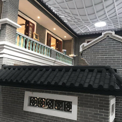 Antique stone coated metal roof tiles